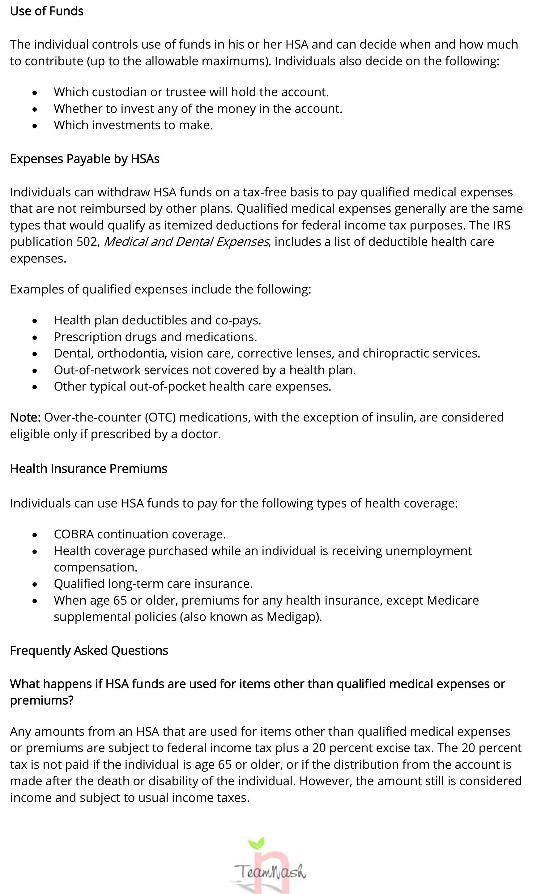 Health Savings Accounts (HSAs)-4 – Team Nash